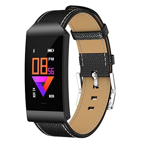 Uhruolo Smartwatch,Fitnessarmband mit Herzfrequen,Schrittzähler Schlaftracker Aktivitäts Tracker