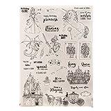 wiffe Silikon Transparent Siegel Stempel für DIY Album Scrapbooking Foto-Karte Dekoration