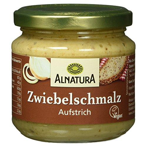 Alnatura Bio Zwiebelschmalz, vegan, 6er Pack (6 x 165 g)