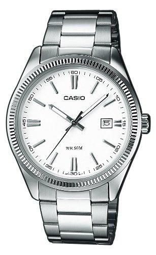 Casio Reloj Analogico para Hombre de Cuarzo con Correa en Acero Inoxidable MTP-1302PD-7A1VEF