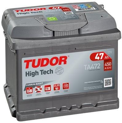 Batteria per Auto Tudor Exide high-tech 47Ah, 12V. dimensioni: 207x 175x 175. Morsetto destro.