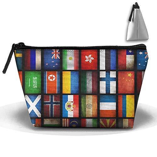 Mapa Mundial Bandera Maquillaje portátil Recibir
