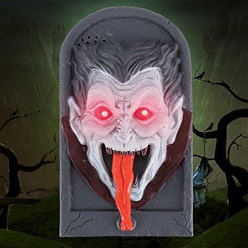Hotbesteu Halloween Decoración Timbre Halloween Timbre de Puerta Decoración Habla Terror Aterrador para Las Decoraciones de la Puerta de la Barra del Partido Juguetes del Regalo de los Niños (vampiro)
