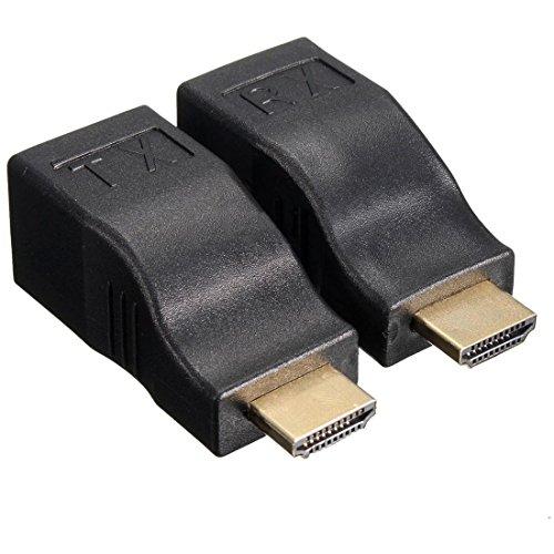 QUMOX 1080P 4K 3D HDTV HDMI Extender Verstärker über Single 30m Cat5e Cat6