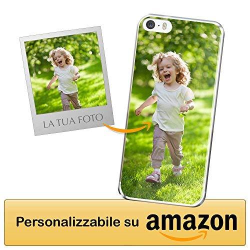 Cover personalizzata apple iphone 5 / apple iphone 5s / apple iphone se - custodia morbida e trasparente - stampa di altissima qualità