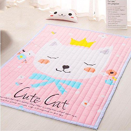 XC Baby Krabbeln Pads Verdickung Ringe Baby Krabbeln Pads Falten Fußmatten Baby Anti-Damp Pads Spieldecken (Farbe : B) -