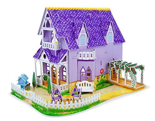 Melissa Doug Pretty Purple Dollhouse 3D Puzzle