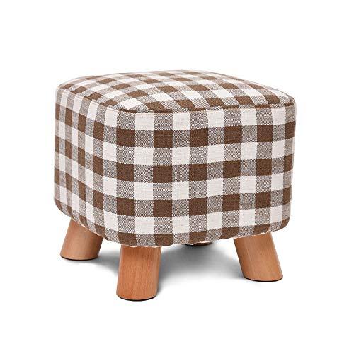 DEI QI Chaussures en bois massif Banc Creative Tabouret Carré Tissu Tabouret Tabouret Tabouret Canapé Tabouret Table Basse Banc Home Stool (Style : G)