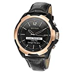 Titan Juxt rose gold 90055KL01J Smartwatch (Black Strap)