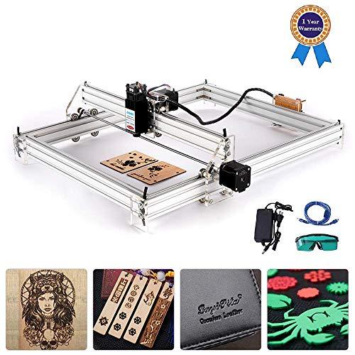 HUKOER 40X50 CM DIY CNC Laser Engraver Kits12 V USB Desktop Laser Graviermaschine, einstellbare Laser Power Drucker schnitzen Metalle Keramik reflektierendes und lichtdurchlässiges Material (5500 MW)