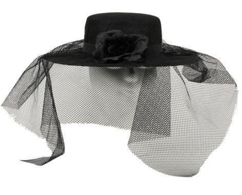 Mitternacht Braut Kostüm - Karneval Klamotten schwarze Witwe Hut mit Schleier Karneval Halloween