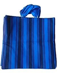 """PM Linnings Non Woven Shopping Bag (SIZE: 15"""" X 15""""-Inches) Purple & Blue - 24 Pcs."""