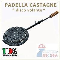Padella ribaltabile in metallo per cucinare le castagne sulla braceDiametro 22 centimetriProdotto artigianale realizzato in Italia