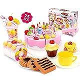 ZREAL 75 Teile/satz Küche Spielzeug Mädchen Täuschen Spielen Schneiden Geburtstag Kuchen Kinder Kinder Pädagogisches Spielzeug