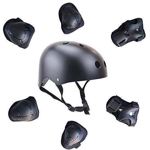 topfire-nero-casco-2f-childs-set-di-protezioni-per-ginocchia-e-gomiti-e-polsi