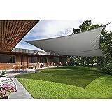 Greenbay Sonnensegel Sonnenschutz Segel Beschattung Segel, UV Schutz für Balkon Terrasse Garten 100% Polyester, Rechteck 3x2m Anthrazit