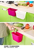 Rian's Online Simple And Stylish Colorful Eco-Friendly Novelty Multi-purpose Home Kitchen Office Cupboard Drawer Door Cabinet Storage Box Fruit Storage Container Organizers Hanging Trash Bin Garbage Holder
