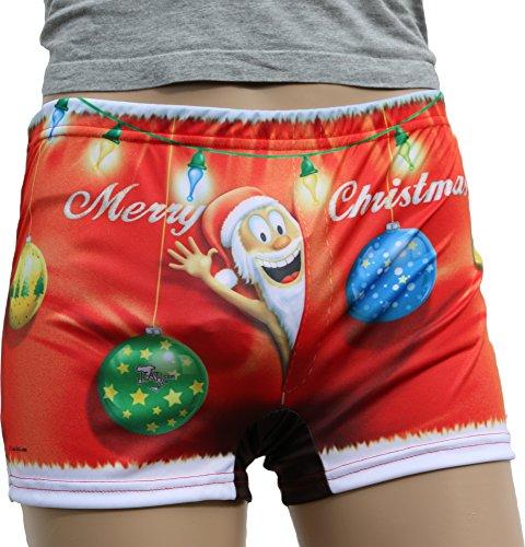 ITATI-Textilien Boxershort Frohe Weihnachten = Kunden nutzen Sie auch ALS Badehose = Das Original direkt (BXM-22865)