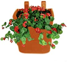 Minerva Naturals Vertical Garden Wall Hanging Pot (Terracotta, 10 Qty)