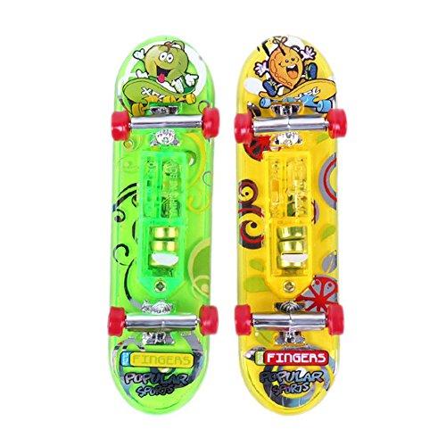 Mini juguete de monopatin - TOOGOO(R)2 x Mini juguete de monopatin de dedo de escritorio regalo para muchachos ninos y chicos