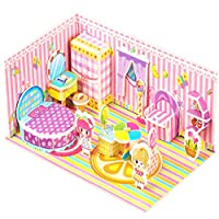 Sansee Puzzle 1 Set 3D Paper Dream House Jigsaw Learning Training Educational Developmental Toy Home School for Baby Kids Best Christmas Festival Birthday Gift