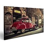 islandburner Bild Bilder auf Leinwand Altes Auto und Retro Roller Wandbild Leinwandbild Poster DWE