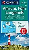 Amrum, Föhr, Langeneß im Nationalpark Schleswig-Holsteinisches Wattenmeer: 3in1 Wanderkarte 1:35000 mit Aktiv Guide inklusive Karte zur offline ... (KOMPASS-Wanderkarten, Band 705)