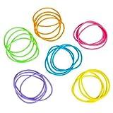 3X Assortis Neon Jelly Bracelets–7cm–Neuf