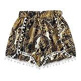 Daysing Drapeau des Femmes d'Amérique Jeans en Denim Taille Haute Trou Trous Poches Mini Shorts Pantalons