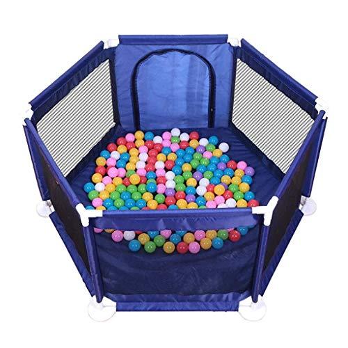 LXJJGF Baby Zaun, Kinderspielzeug Ozean Ball Pool Sechseck Zaun Montiert Spielhaus Baby Baby Indoor Farbe Welle Ball (ohne Ball) -