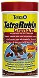 TetraRubin (Hauptfutter in Granulatform mit natürlichen Farbverstärkern für Zierfische, für intensive Farbenpracht, plus Präbiotika für verbesserte Körperfunktionen und Futterverwertung), 250 ml Dose
