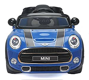 mini cooper s elektrisches auto f r kinder 2 motoren blau 2 4 ghz fernbedienung original. Black Bedroom Furniture Sets. Home Design Ideas
