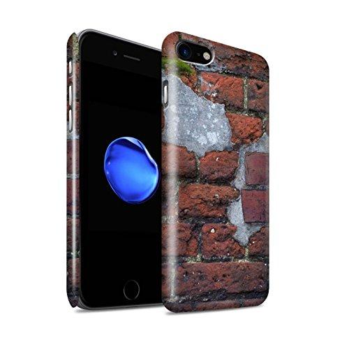 STUFF4 Glanz Snap-On Hülle / Case für Apple iPhone 8 / Alt/Gelb Muster / Mauerwerk Kollektion Zement/Rot