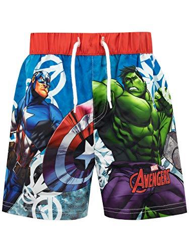 Marvel Costume da Bagno per Ragazzi a Due Pezzi Avengers Multicolore 3-4 Anni