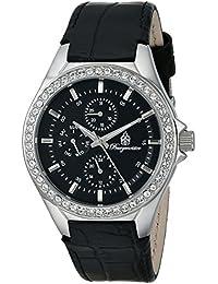 Burgmeister BM529-122 - Reloj, con correa de acero inoxidable, de color negro