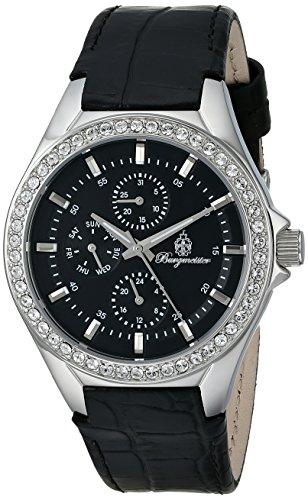 Burgmeister Armbanduhr für Damen mit Analog Anzeige, Quarz-Uhr und Lederarmband - Wasserdichte Damenuhr mit zeitlosem, schickem Design - klassische, elegante Uhr für Frauen - BM529-122 Tampa