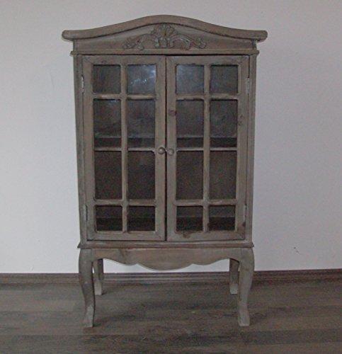 EDK Vitrine/Holzvitrine, antiklook, grau/braun, H 106 cm