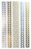 Spestyle Neues Design heißer Verkauf Goldene Gold & Silber & Schwarz Metallic Tattoo-Aufkleber Schmuck Mode-Design