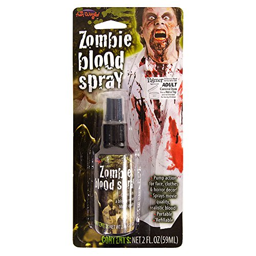 spray ~ Horror Effekt Make-up ~ 59ml ~ Halloween (Zombie Schwarze Blut Spray)