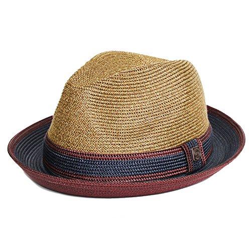 Dasmarca Benson Twotone été tressées Fedora Hat Marron
