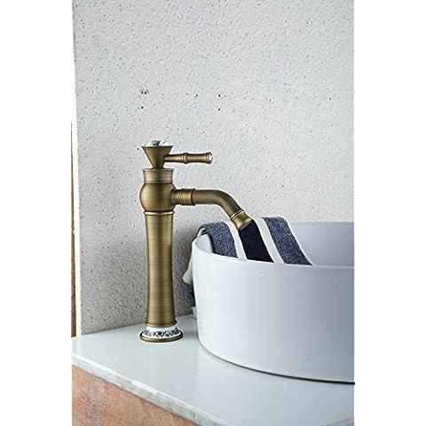 Luxury classic freddo continentale tropicale di rame diamante antichi rubinetti rubinetti del lavandino Rubinetto Rubinetto