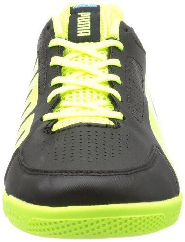 Puma Evospeed 3.2 Sala, Chaussures indoor homme Noir - Schwarz (black-fluo yellow-brilliant blue 01)