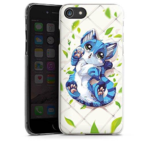 Apple iPhone X Silikon Hülle Case Schutzhülle Blaue Katze Cat Kitty Hard Case transparent