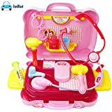 FunBlast Doctor Kit Toys For Kids,Doctor Kit Pretend Play Toys (Set Of 19 Pcs (Pink)