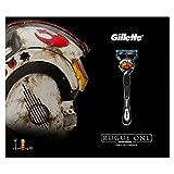 Gillette Fusion ProGlide Rasierer/Zwei Rasierklingen und Shaving Gel, Geschenk-Set