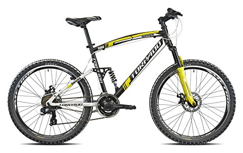 "Torpado Bike MTB Full suv99 26 ""Alu 3 x 7 V Disc MTB Size 48 Black Yellow (biammortizzate)/Bicycle MTB Full suv99 26"" Alu 3 x 7S Disc Size 48 Black Yellow (MTB Full Suspension)"