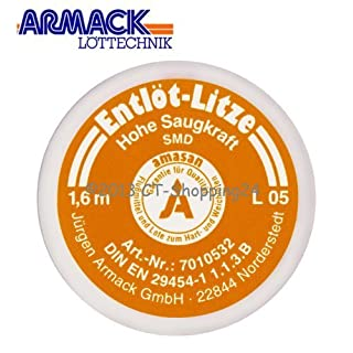 Amasan L05 (orange SMD = 0.5 MM wide Copper Solder Wire with High Absorbency 1,60 M