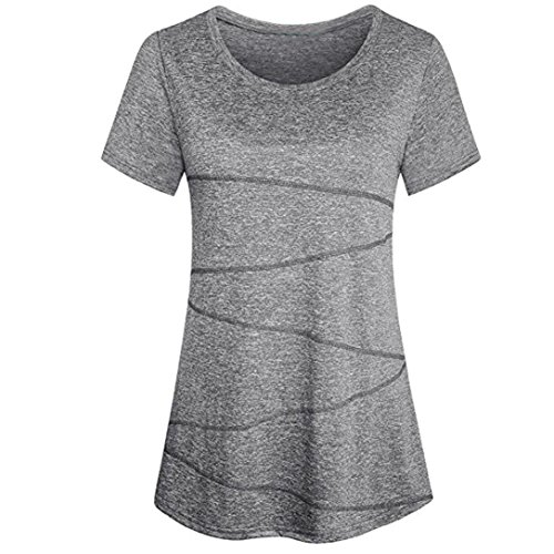 Womens T-Shirts, SHOBDW Womens Fahsion Summer Short Sleeve Yoga Tops Blouse Casual Activewear Sports Running Workout T-Shirt