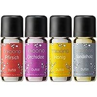 Duftöl Set - Entspannung - Pfirsich, Orchidee, Honig, Sandelholz - Aromaöl für Duftlampe und Diffuser von miaono preisvergleich bei billige-tabletten.eu