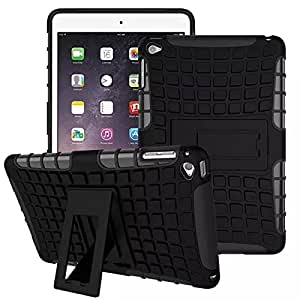 Kickstand Hybrid Dual Armor Case Cover for Apple iPad Pro Rugged Black